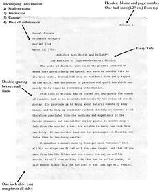 Mla Format Essay Writing Help How To Write Apa