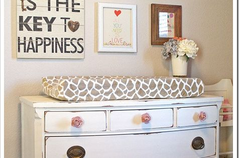 Dresser pairs as changing table - nursery ideas.