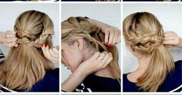 Recogido bajo trenzado hairstyles pinterest for Recogido bajo trenzado
