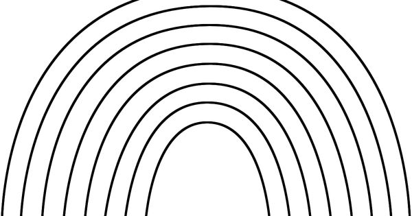 Rainbow Template To Print | Coloring pages of rainbows ...