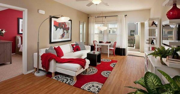 Klein Wohnzimmer Rot Weiß Couch | Einrichten | Pinterest | Couch Wohnzimmer Rot Weis