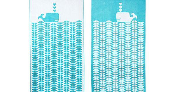 One Kings Lane - Beach Towels - Luzelle van der Westhuiz Whale,