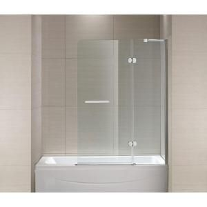 Schon Mia 40 In X 55 In Semi Framed Hinge Tub And Shower Door In Chrome And Clear Glass Sc70014 Tub Shower Doors Shower Doors Bathtub Doors