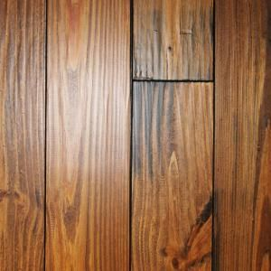 Hand Scraped Roasted Pine 3 4 In Thick X 5 1 8 In Wide X Random Length Solid Hardwood Flooring 23 3 Sq Ft Case P34518cn Solid Hardwood Floors Hardwood Floors Pine Floors