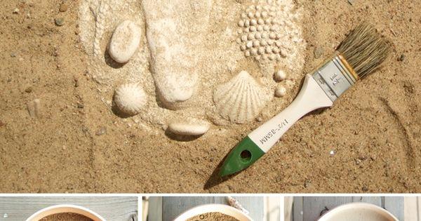 DIY Stepping stones ~LOVE the footprint!
