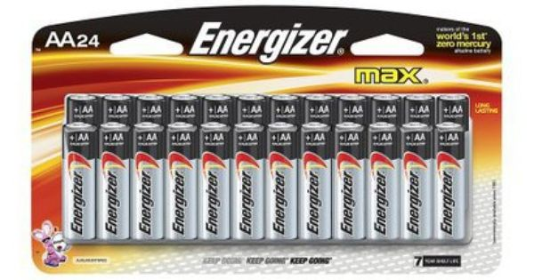 Energizer Max Aa Batteries 24 Ct 17college Energizer Energizer Battery Alkaline Battery