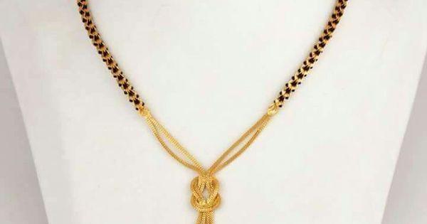 Modern black beads or mangalsutra | Black beads ...