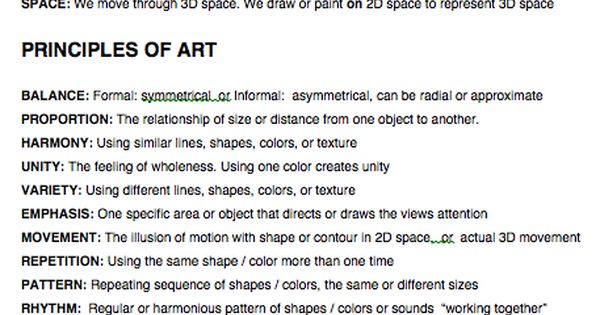 6 Principles Of Art : Elements principles and styles of art definitions