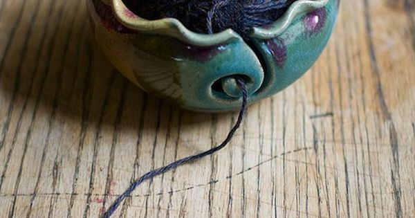 Denice Yarn bowl - Etsy Knitting bowl by redhotpottery