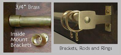 Solid Brass Drapery Hardware 3 4 Unlacquered Brass Curtain Rods Curtain Hardware Hardware