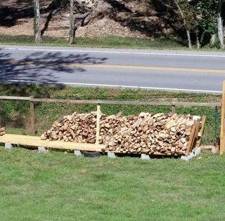 Firewood Rack Using No Tools Stockage De Bois De Chauffage Bois