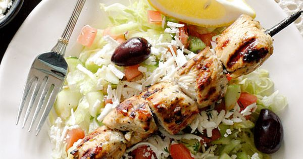 Chicken Kebab Salad | Mediterranean Chicken, Chicken Kebab and Kebabs ...