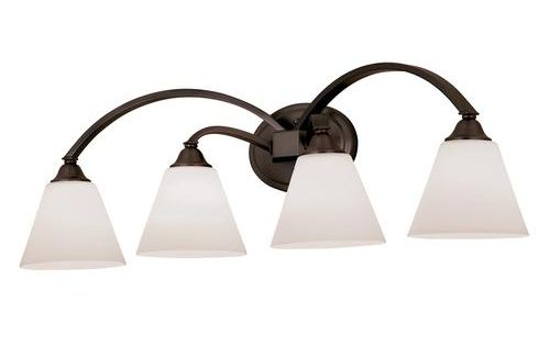 "Talista 4 Light Antique Bronze Bath Vanity Light With: Plaza Collection 4-Light 32.5"" Oil Rubbed Bronze Bath"