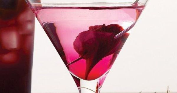 Make a Bleeding Heart martini at your Halloween party with a recipe from Martha Stewart.