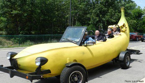 A Peel Ingly Fast Car Superbly Silly Giant Yellow Banana Car Con