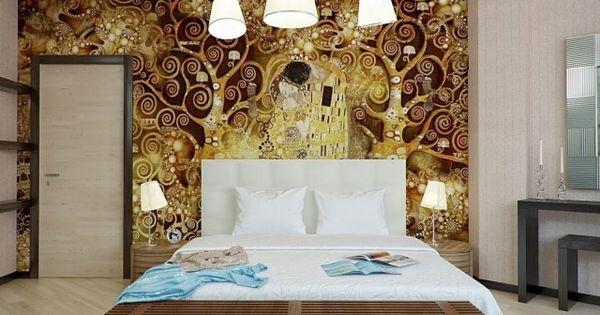... déco murale et aménagement chambre à coucher  Belle, Deco and Gold