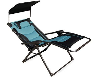 Black Amp Teal Oversized Padded Zero Gravity Chair With