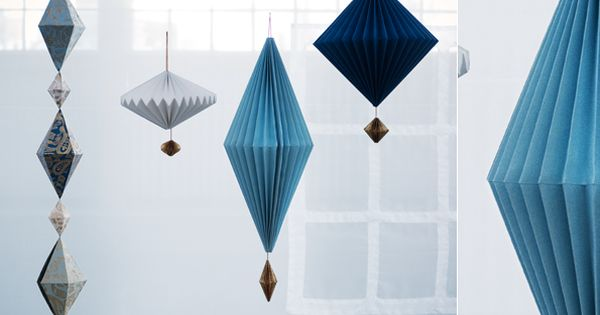 IKEA's limited edition True Blue collection - need these paper lanterns!