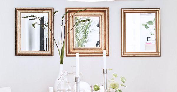 Bois brut et miroirs dor s miroir pinterest maison for Miroir bois brut