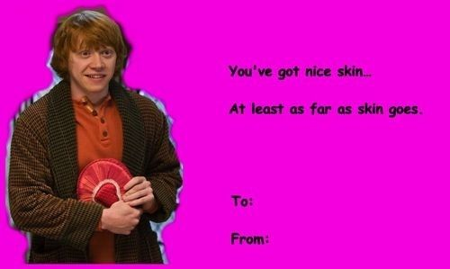 For The Person Who Doesn T Need Elaborate Compliments Harry Potter Valentines Harry Potter Valentines Cards Valentines Memes