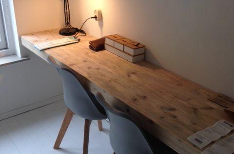 Werkblad maxime materiaal steigerhout in verstek afgewerkt ontwerp en bureau pinterest - Deco halloween tafel maak me ...