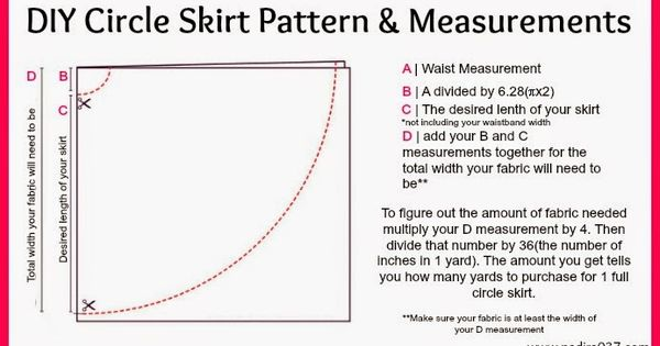 diy circle skirt pattern measurements for tulle