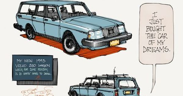 Another Great Creation By France Belleville Van Stone Her 21 Year Old Volvo 240 Wagon Volvo 240 Volvo Wagon Volvo