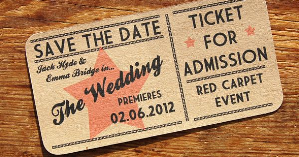 A Bird & A Bee's 'Red Carpet' Save The Date. Styled As A