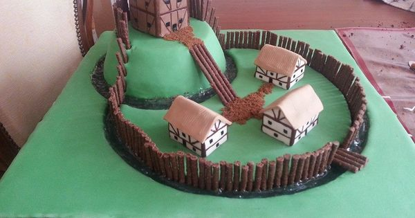 Rachel Bailey Cake Artist : motte and bailey cake for my sons school project... won ...
