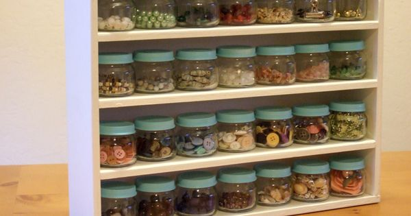 11 awesome baby jar crafts! | BabyCenter Blog Sort and organize buttons