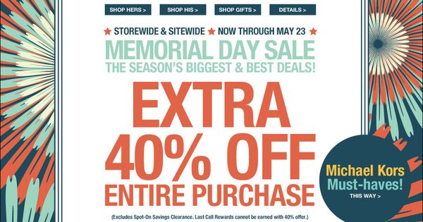 memorial day sale leesburg outlets