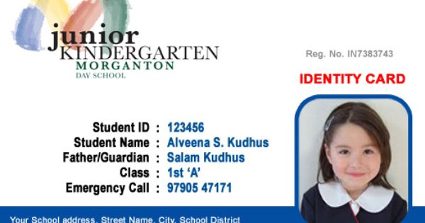 Beautiful Student Id Card Templates Desin And Sample Word File School Resources Student Teacher Centre Id Card Template Employee Id Card School Id