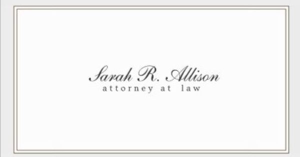 Simple and Elegant Attorney White With Border Template Business ...