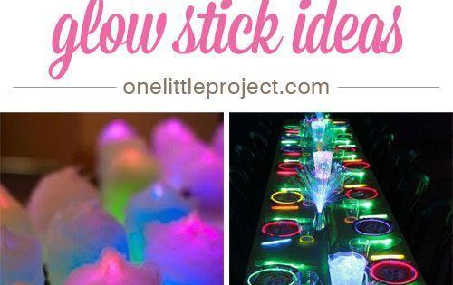 50 awesome glow stick ideas nachtleben deko ideen und for Bastelideen fa r teenager