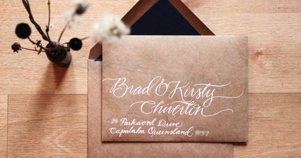 Woodland Wedding Custom Hand Written Address Envelopes