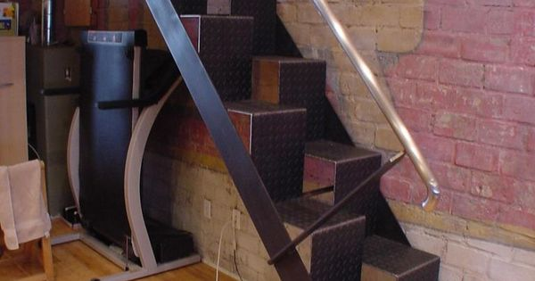 Best Furniture Creative And Unique Stairs For Space Saving Ideas Unique Black Checkered Plate Loft 400 x 300