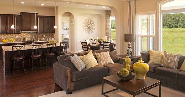 Open Main Living Area Drees Homes Sasha ModelFloor Plan