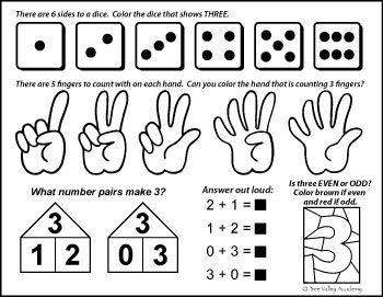 Number Bonds To 3 Free Math Printables Free Math Free Math Worksheets Number bonds to worksheet free