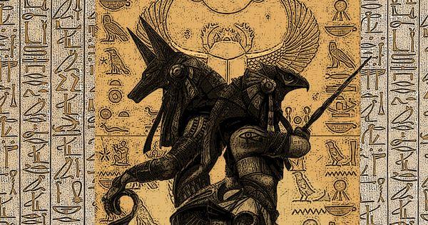 Egypt Warrior Illustration Anubis Pyramid Fantasy Art: Anubis And Osiris By Dandelum.deviantart.com On