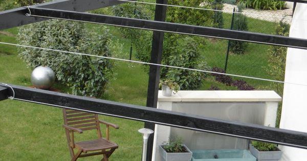 toile d 39 ombrage sur ma terrasse bois terrasse bois ombrage et terrasses. Black Bedroom Furniture Sets. Home Design Ideas