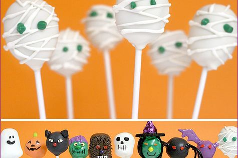 Halloween party cake balls