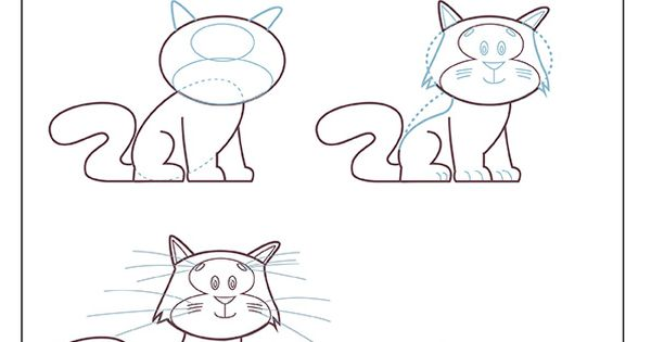 Apprends dessiner un chat m thode de dessin apprendre for Methode facile pour apprendre les multiplications