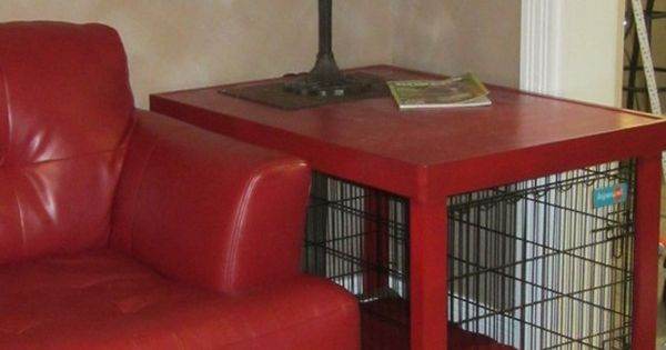 Dog Crate Cover Coffee Table Coolest For The Home Pinterest Dog Crate Crates And Coffee