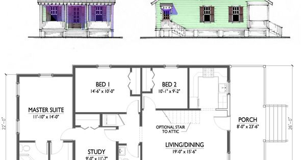 Katrina Cottage House Plans | Plans Not To Scale. Drawings Are