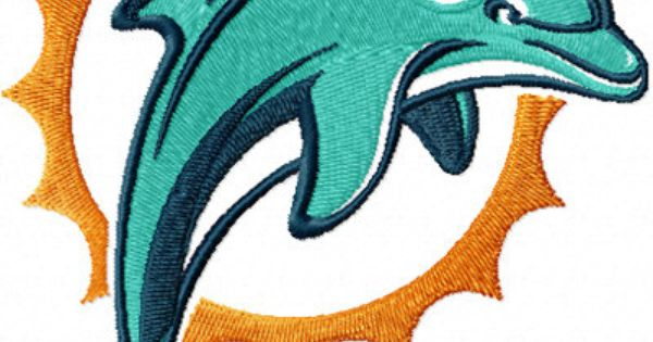 Miami Dolphins Football Machine Embroidery Design By
