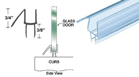 Crl Co Extruded Clear Bottom Wipe With Drip Rail For 3 8 Glass