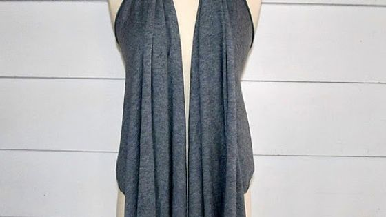 5 minute draped vest from a tshirt. Other good DIY clothing here