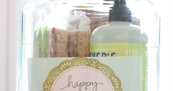 Housewarming Gift in a Jar plus many other jar gift ideas