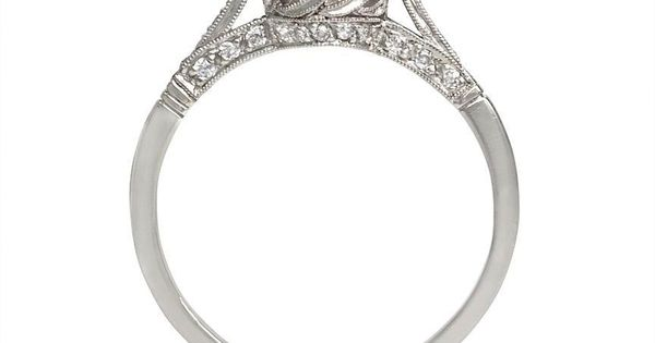European cut diamond engagement ring. Love antique rings.