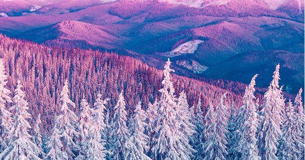 Purple Iphone 6 Wallpaper 14276 Wallpaper: Purple Winter Mountain Landscape IPhone 6 Wallpaper